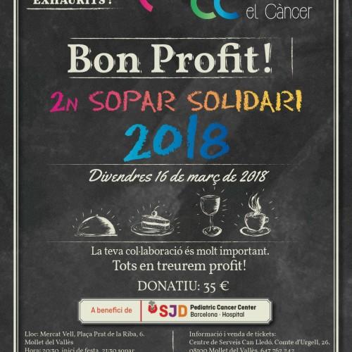 Actuación 2º cena solidaria contra el Cancer en Mollet del Vallès